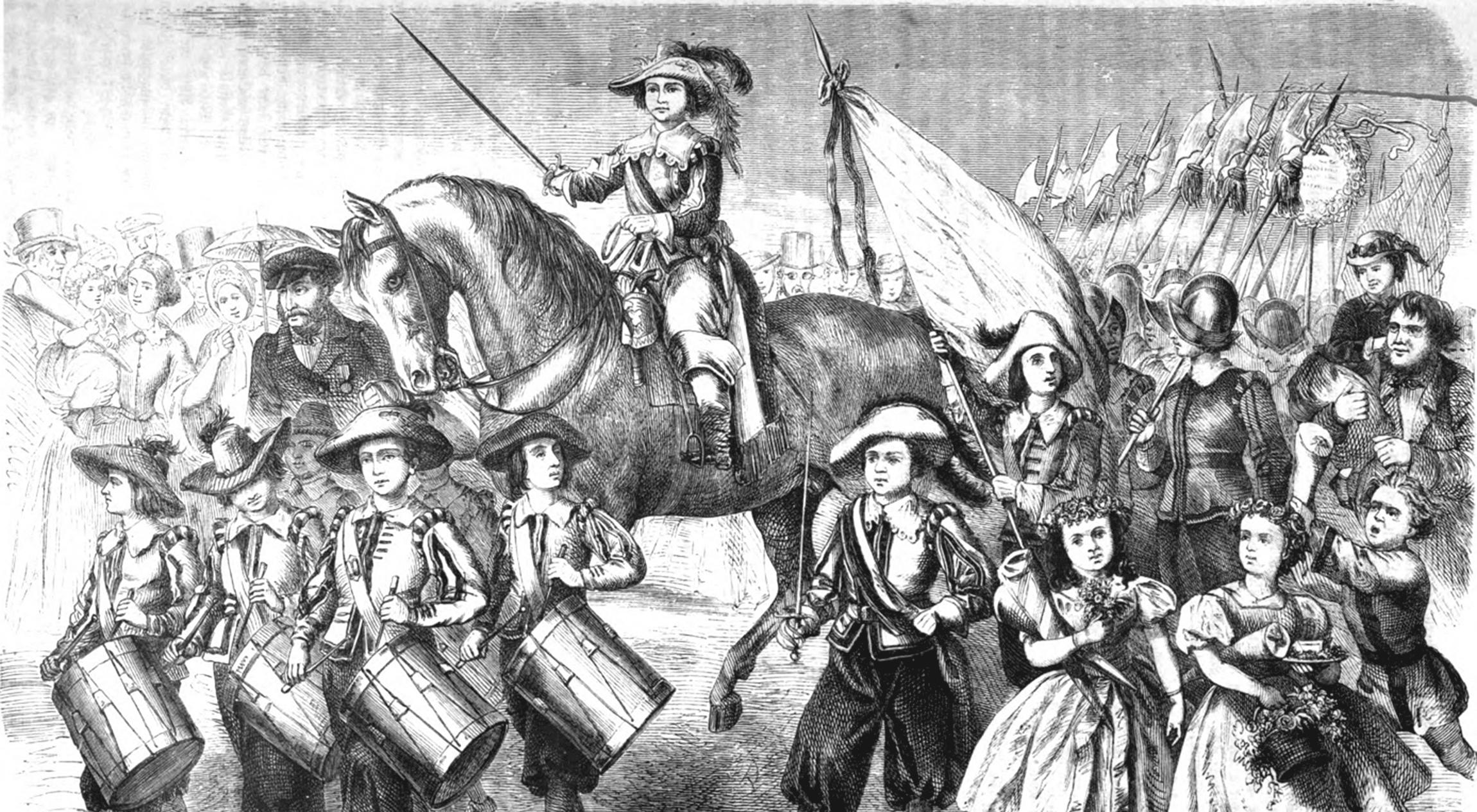 Historische Abbildung der Kinderzeche von Oskar Schäffer (1864)